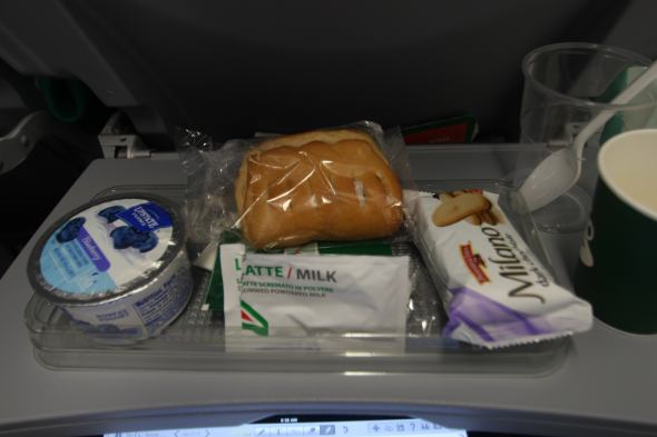 I'm only on the plane and the gluten onslaught of Italian food has begun...